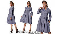 Стильное котоновое платье-рубашка Minova (42,44,46)