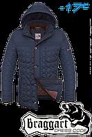 """Куртка мужская зимняя Braggart """"Dress Code"""" (светло-синий с коричневым)"""