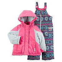 Детский зимний костюм (куртка и полукомбинезон) Картерс для девочки 18М