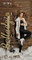 Теплые мягкие женские колготы Alpina 150 den Belladgio (Украина) Цвет черный
