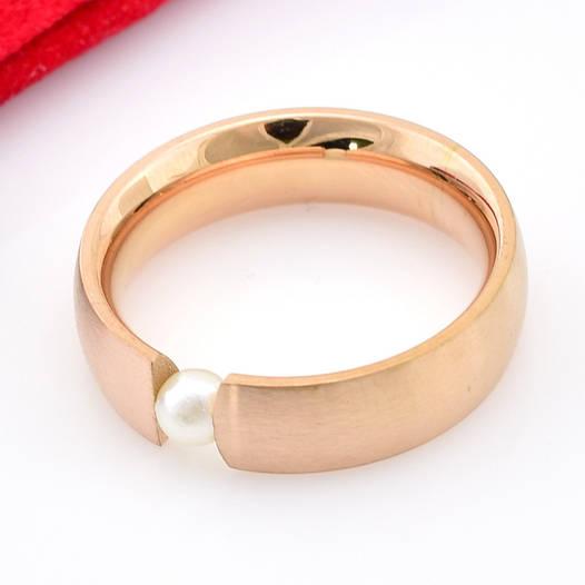 Кольцо со слабым блеском, размер 20, белый жемчуг, позолота РО