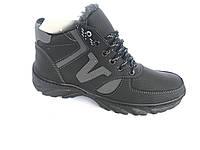 Ботинки спортивный мужские черный  на шнурке PERFECT Б-10