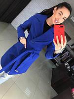 Женское кашемировое пальто с поясом В30112