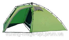 Палатка полуавт. 3-х мест. 2-шаров.  Norfin PELED 3  3000мм / FG / 205+(125)Х195х135см / NF