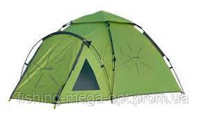Палатка полуавт. 4-х мест. 2-шаров.  Norfin HAKE 4  3000мм / FG / (50)+250+(65)Х290х120см / NF