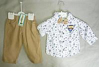 Нарядный детский костюм с бабочкой для мальчиков 6-18 мес Турция