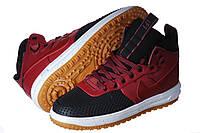 Кроссовки мужские Nike Lunar Force Duckboot красные (найк)