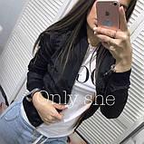 Жіноча демісезонна куртка на манжетах, фото 4