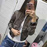 Жіноча демісезонна куртка на манжетах, фото 6