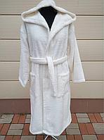 Именной махровый халат с капюшоном высокой плотности