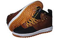 Кроссовки мужские Nike Lunar Force Duckboot коричневые (найк)