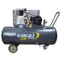 Компрессор ременной двухцилиндровый 380В 3кВт 550л/мин 10бар 150л Sigma Refine (7044231)