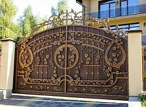 Кованые ворота, ограждения, перила, лестницы 16