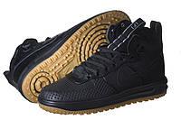 Кроссовки мужские Nike Lunar Force Duckboot черные (найк)