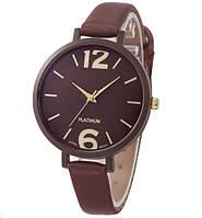 Жіночий наручний годинник коричневий (ч-6)