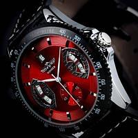 Мужские механические часы c автоподзаводом Winner Classic Red