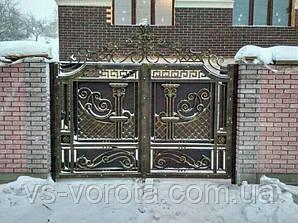 Откатные кованые ворота