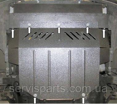 Защита двигателя Peugeot 307 2001-2008  (Пежо 307)