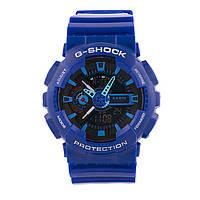 Яркие спортивные часы Casio G-Shock ga-110 Blue