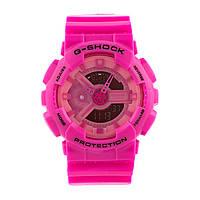 Яркие спортивные часы Casio G-Shock ga-110 Pink