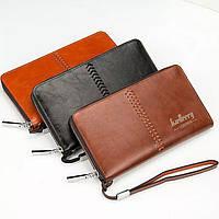Мужской кожаный кошелек, портмоне, барсетка Baellerry Leather (3 цвета)