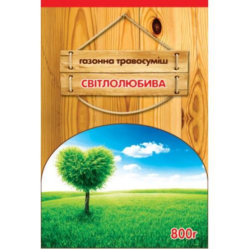 Трава газонная Светолюбивая, 800 г — семена газонной травы засухоустойчивой