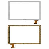 "Сенсорный экран (touchscreen) для Bravis NB105 3G, 10.1"", 146-255 мм, 50 pin, белый, оригинал"