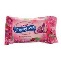 """В.серветки Superfresh """"Flower"""" 15шт (1/120)"""