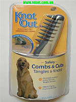 Расческа для шерсти Кnot out electric pet grooming comb, фото 1