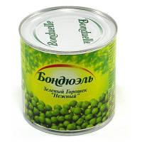"""Горошок зелений консервований 400г ж/б """"Bonduelle"""" (1/12) ЗНИЖЕНО ЦІНУ"""