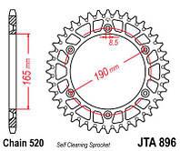Звезда задняя легкосплавная JT JTA897.48