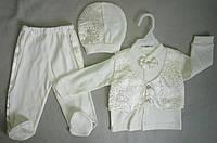 Нарядный костюм с бабочкой для новорожденных на мальчиков 0-3 мес Турция