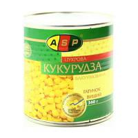 """Кукурудза цукрова 340г """"ASP"""" ж/б (1/12)***"""