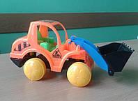 """Машинка Будівельна техніка (трактор з ковшом) """"Toys"""" (14см) (1/10)"""