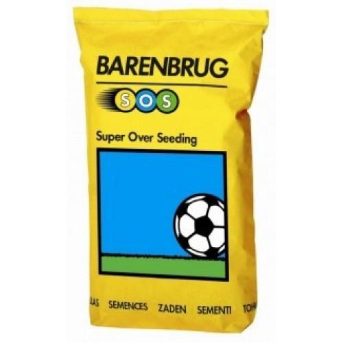 Трава газонная супер подсев Спорт Barenbrug SOS, 15 кг — травосмесь для быстрого восстановления игровых полей
