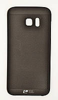 Чехол на Самсунг Galaxy S7 edge G935F Soft Touch Loopee мягкий Пластик Черный, фото 1