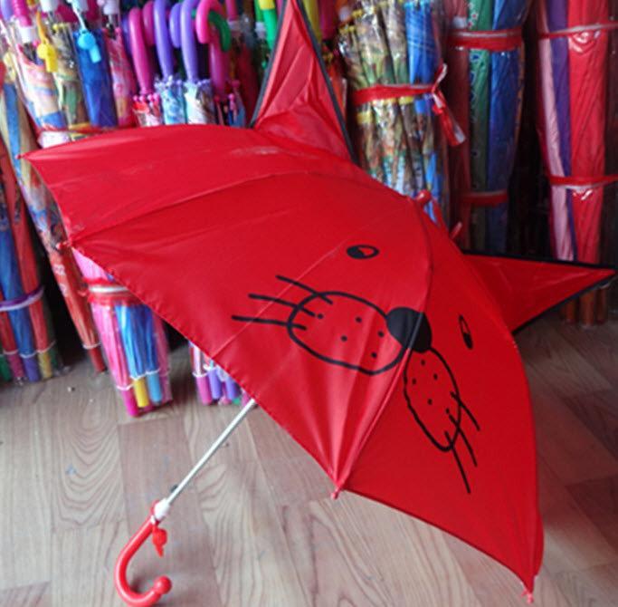 """Милые детские зонты с ушками и мордочкой, со свистком трость. Хорошее качество. Доступная цена. Код: КГ1868 - Магазин """"http://www.goashop.com.ua/"""" в Киеве"""