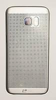 Чехол на Самсунг Galaxy S7 edge G935F Soft Touch Loopee мягкий Пластик Серебро, фото 1