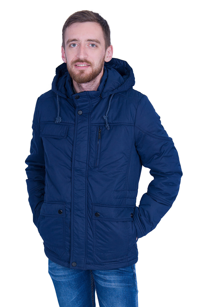 Чоловіча демісезонна куртка, синього кольору
