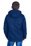 Чоловіча демісезонна куртка, синього кольору, фото 3