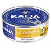 """Скумбрія філе в олії """"KAIJA"""" 170г ключ/овал (1/24)"""
