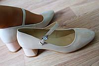 """Отличные туфли, кожзам/лак камень """"хамелеон"""" Цвет: Бежевый."""
