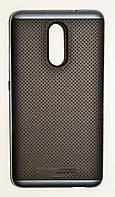 Чехол на Xiaomi Redmi Note 3 / Redmi Note 3 Pro SGP Case Силикон и Пластик Черный Серый
