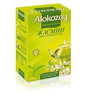 """Чай """"Alokozay Tee"""" 100г Зелений з Жасміном Листовий (1/40)"""