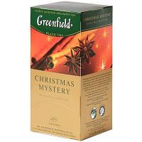 """Чай """"Грінфілд"""" 25п*1,5г Чорний Christmas Mystery (Прянощі) (1/10) 642"""