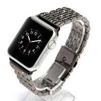 Ремешок для Apple Watch 38mm - COTEetCI W4 Magnificent чёрный