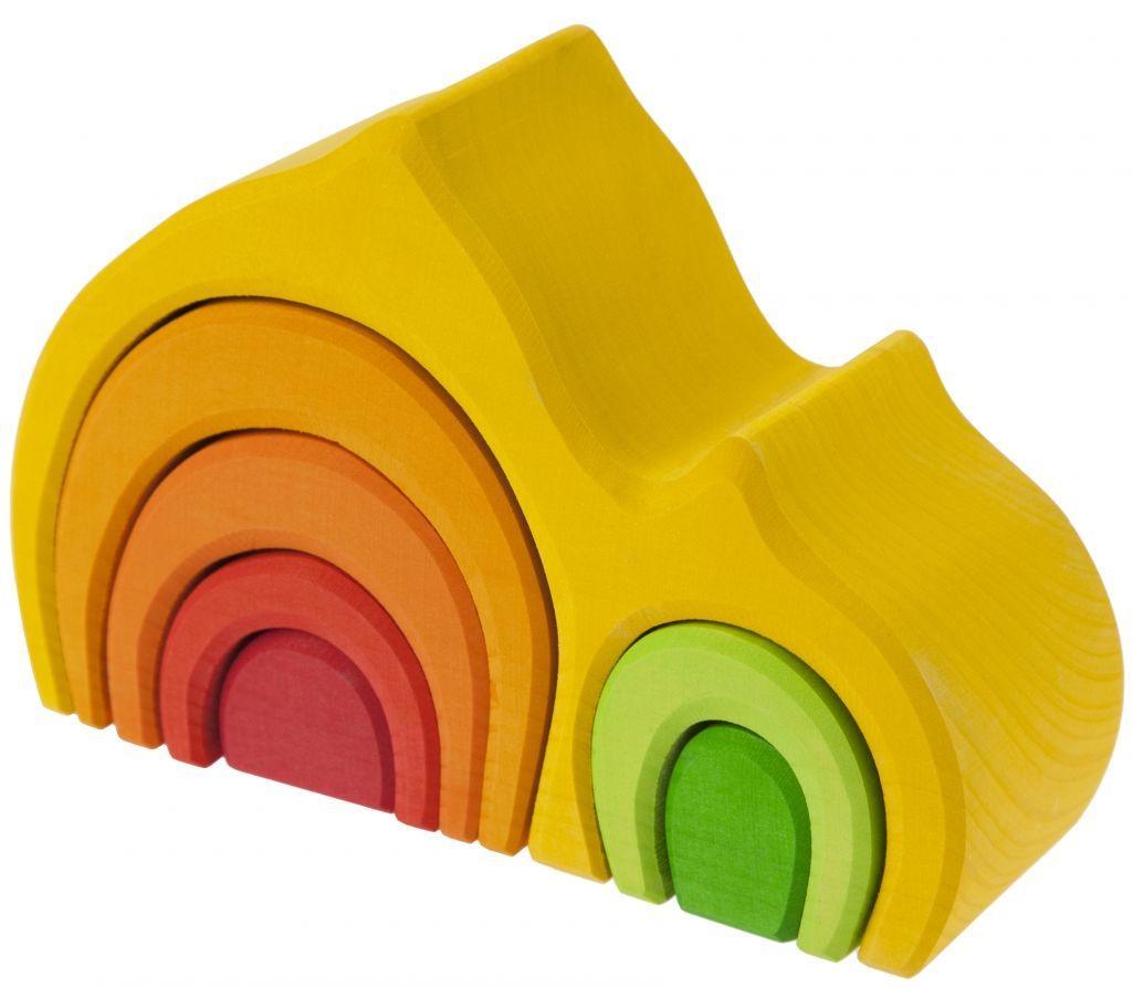 Деревянный  конструктор для детей nic cubio NIC523022 Желтый
