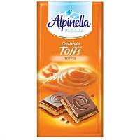Шоколад Alpinella с карамельной начинкой (Toffee) 90г (1/22)