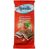Шоколад Alpinella з полуничною начинкою (Strawberry) 100г (1/22)