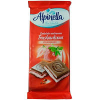 Шоколад Alpinella з полуничною начинкою (Strawberry) 90г (1/22)